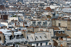 The Roofs of Paris Royalty Free Stock Photography