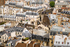 Roofs of Paris. View from the top of Notre Dame de Paris royalty free stock photography