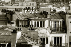 Roofs in Paris, France Stock Photo