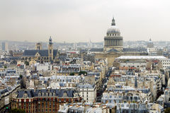 Roofs of Paris with the Pantheon Stock Photo