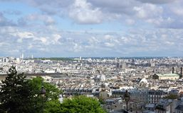 Roofs of Paris, seen since the Montmartre quarter (Paris) Royalty Free Stock Photos