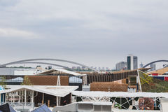 Roofs of pavilions at Expo 2015 in Milan, Italy Royalty Free Stock Photo