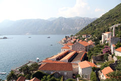 Roofs of Perast Stock Photography