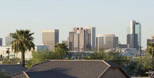 Roofs of Phoenix Downtown. Modern Roofs in Downtown of Phoenix, AZ, USA Stock Photo