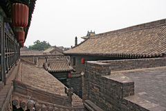 Roofs of Pingyao ancient town Royalty Free Stock Image