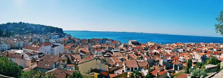 Roofs of Piran Stock Photography