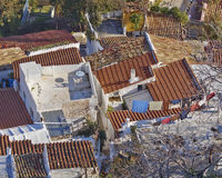 roofs at Plaka, Athens center under Acropolis,  Greece Stock Photography