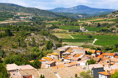 Roofs of  Portel-des-Corbieres. Languedoc-Roussillon, France Royalty Free Stock Photography