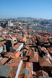 Roofs of Porto. Photo of a panoramic view of Oporto city downtown stock photography
