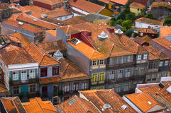 Roofs of Porto city, Portugal Royalty Free Stock Photography