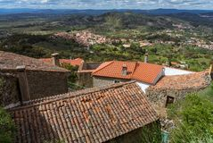 Roofs of the portugese province village. View from the mountain on a portugese village Stock Photography