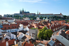 The roofs of Prague Royalty Free Stock Photos