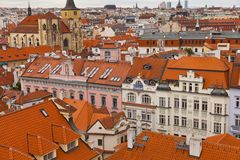 Roofs in Prague Royalty Free Stock Photo