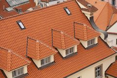Roofs in Prague Stock Photo
