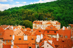Roofs Of Prague Royalty Free Stock Photos
