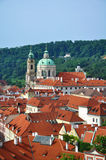 Roofs of Prague. View on roofs of ancient buildings of Prague old town in Czech Republic stock photography