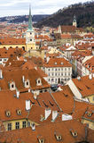 Roofs of Prague city Czech republic Royalty Free Stock Photos