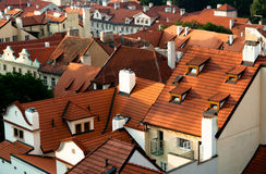 Roofs, Prague, Czech Republic Royalty Free Stock Image