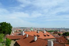 Roofs of Prague. In Czech republic Stock Image