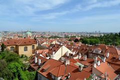 Roofs of Prague. In Czech Republic Stock Photography