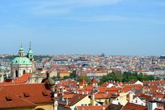 Roofs of Prague. In Czech Republic Royalty Free Stock Image