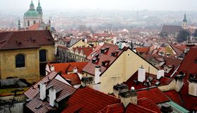 Roofs of Prague, Czech Republic Royalty Free Stock Photos