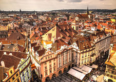 Roofs of Prague, Czech Republic Royalty Free Stock Images