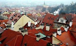 Roofs of Prague, Czech Republic Royalty Free Stock Photos