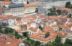 Roofs of Prague Royalty Free Stock Images