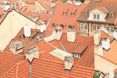Roofs in Prague Royalty Free Stock Photography