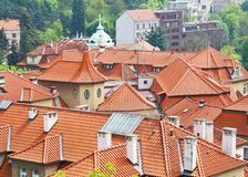 Roofs of Prague Vysehrad Stock Photos