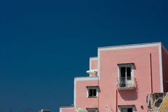 Roofs. In procida with a blue sky Stock Photography