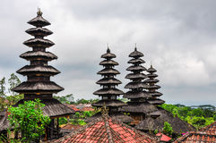 Roofs in Pura Besakih Temple, Bali, Indonesia royalty free stock photo