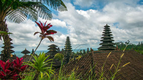 Roofs in Pura Besakih Temple in Bali Island, Indonesia royalty free stock photos