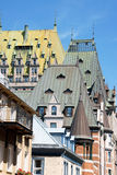 Roofs of Quebec City Royalty Free Stock Image