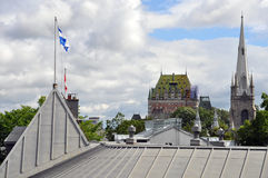 Roofs of Quebec City, Canada Royalty Free Stock Photos