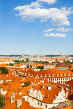 Roofs with red tile in Prague, Czech Republic Royalty Free Stock Photos