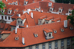 Roofs of Red Tiles Stock Images