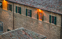 Roofs of the Republic of San Marino Stock Photography