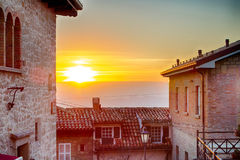 Roofs of the Republic of San Marino Stock Images