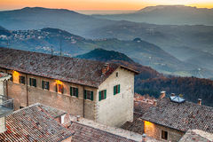 Roofs of the Republic of San Marino Royalty Free Stock Image