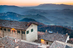 Roofs of the Republic of San Marino Royalty Free Stock Photography