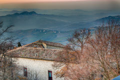 Roofs of the Republic of San Marino Royalty Free Stock Photo