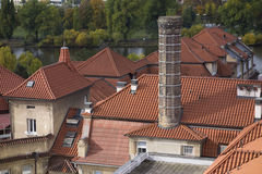 Roofs of the residential block in Vysehrad, Prague, Czech Republic Royalty Free Stock Image