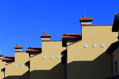 Roofs of residential buildings Stock Images