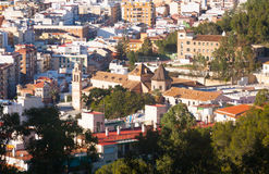 Roofs  of residential districts in andalusian town.  Malaga Royalty Free Stock Photos