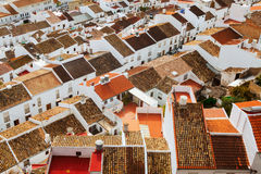 Roofs  of residential districts in andalusian town Stock Photography