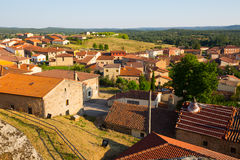 Roofs  of residential districts in spanish village.  Hacinas Stock Image