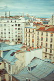 Rooftops of Paris. Roofs in residential quarter of Montmartre in Paris stock image
