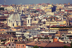 Roofs of rome. Colorful roofs of rome, italy. urban scene Royalty Free Stock Image